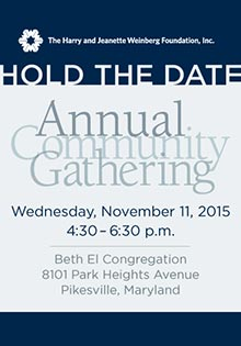 Annual Community Gathering Hold the Date