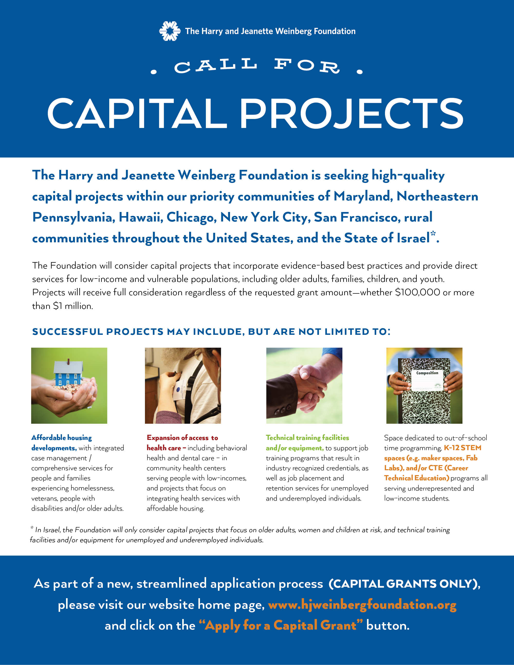 Call for Capital Projects