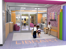 Library Project Rendering
