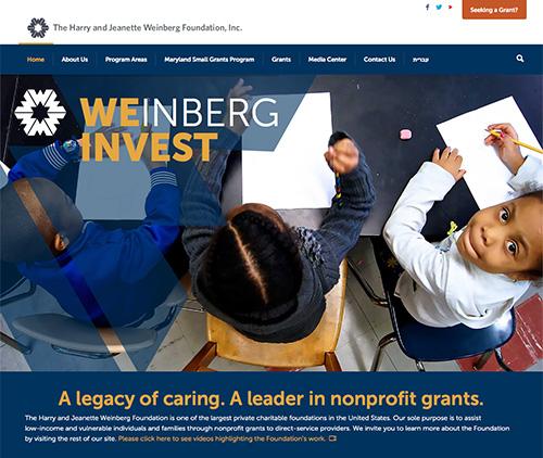 Weinberg Foundation Website